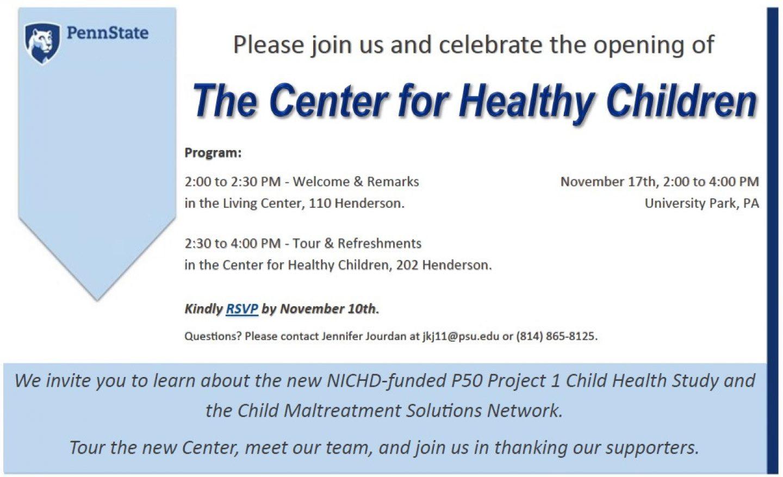 Center for Healthy Children Open House