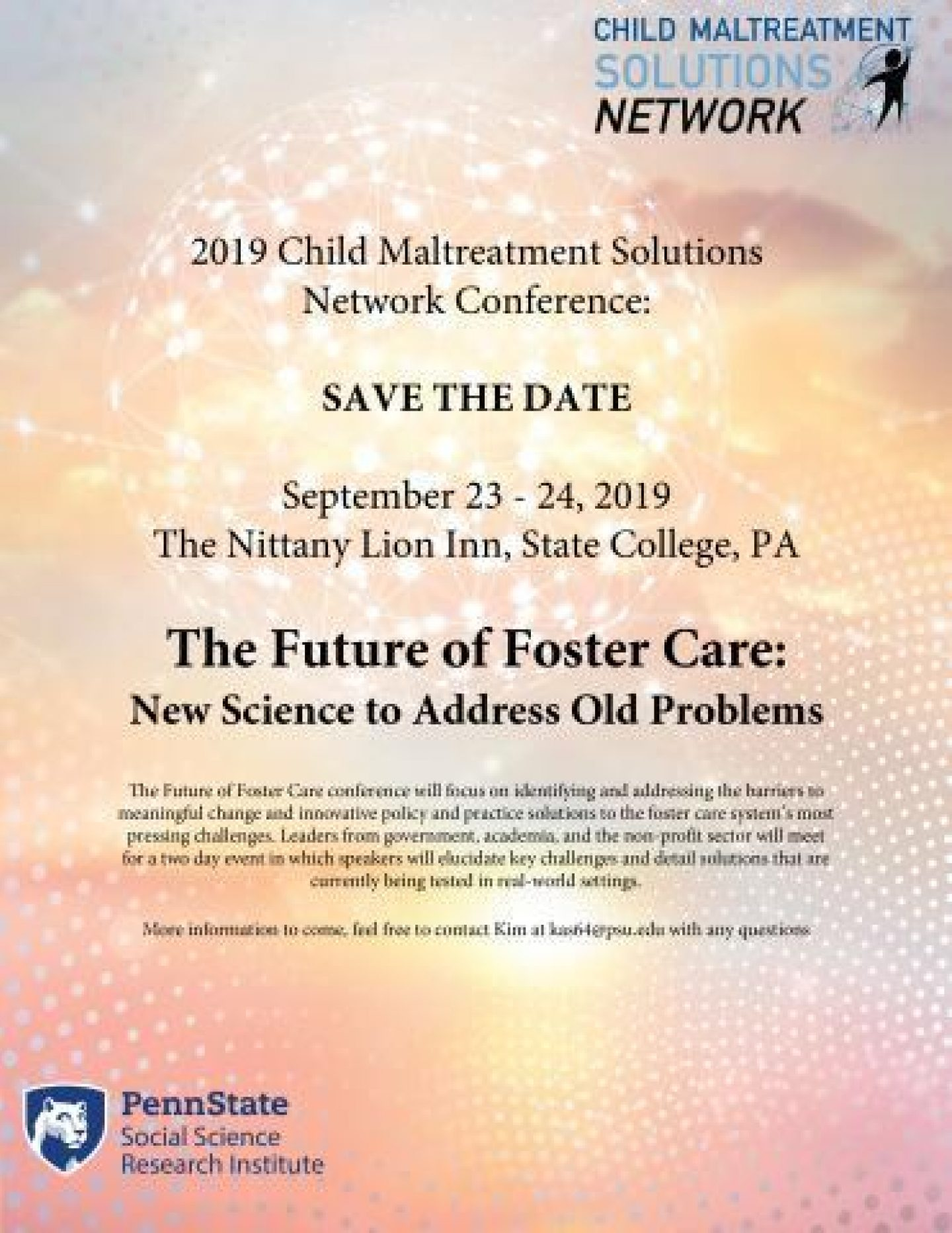 The future of foster care conference flyer